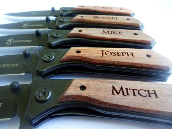 5 SET Personalized Pocket Knives