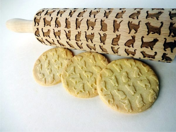 Cats Embossing Rolling Pin