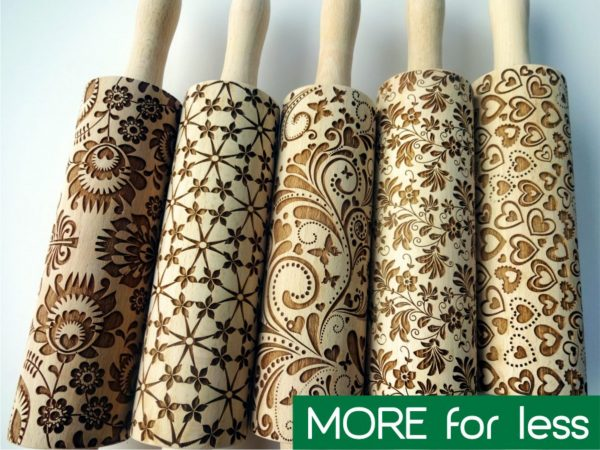 5 ANY pattern Rolling Pin SET
