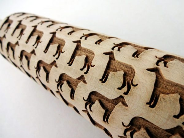 GREYHOUND embossing rolling pin