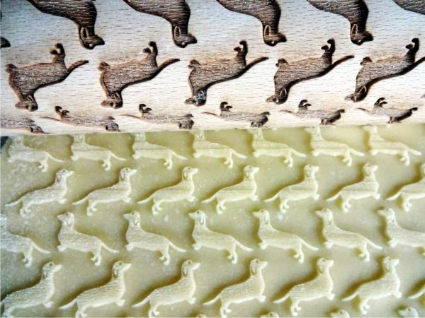 DACHSHUND embossing rolling pin