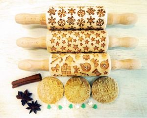CHRISTMAS 3 KIDS mini Rolling Pin SET