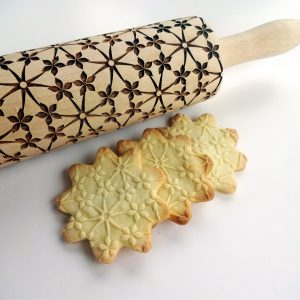 FLORAL NET embossing rolling pin