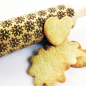 EDELWEISS embossing rolling pin