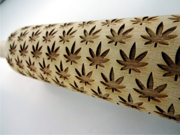 CANNABIS embossing rolling pin