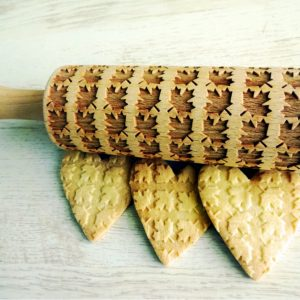 MAPLE LEAVES embossing rolling pin