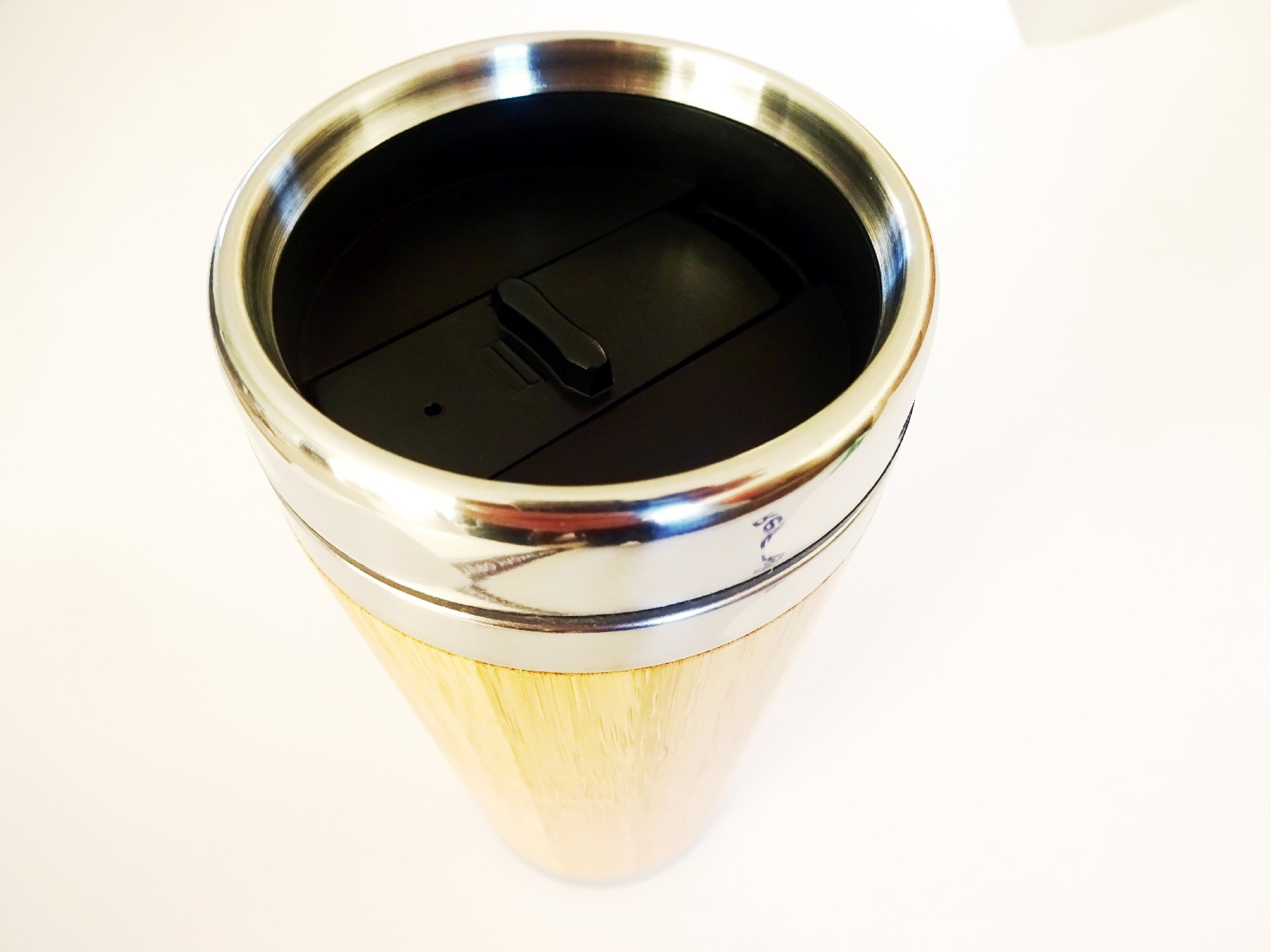 Drink you must - Wood Travel Mug with Lid BPA free