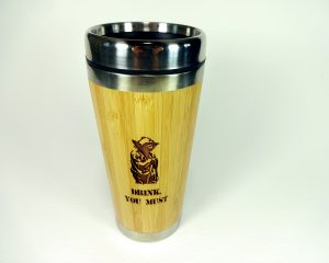 Drink you must - Wood Travel Mug with Lid BPA free