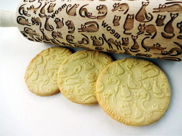 Meow Cats Embossing Rolling Pin