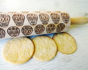 SUGAR SKULLS Embossing Rolling Pin