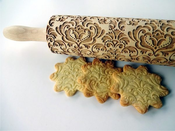 DAMASK embossing rolling pin