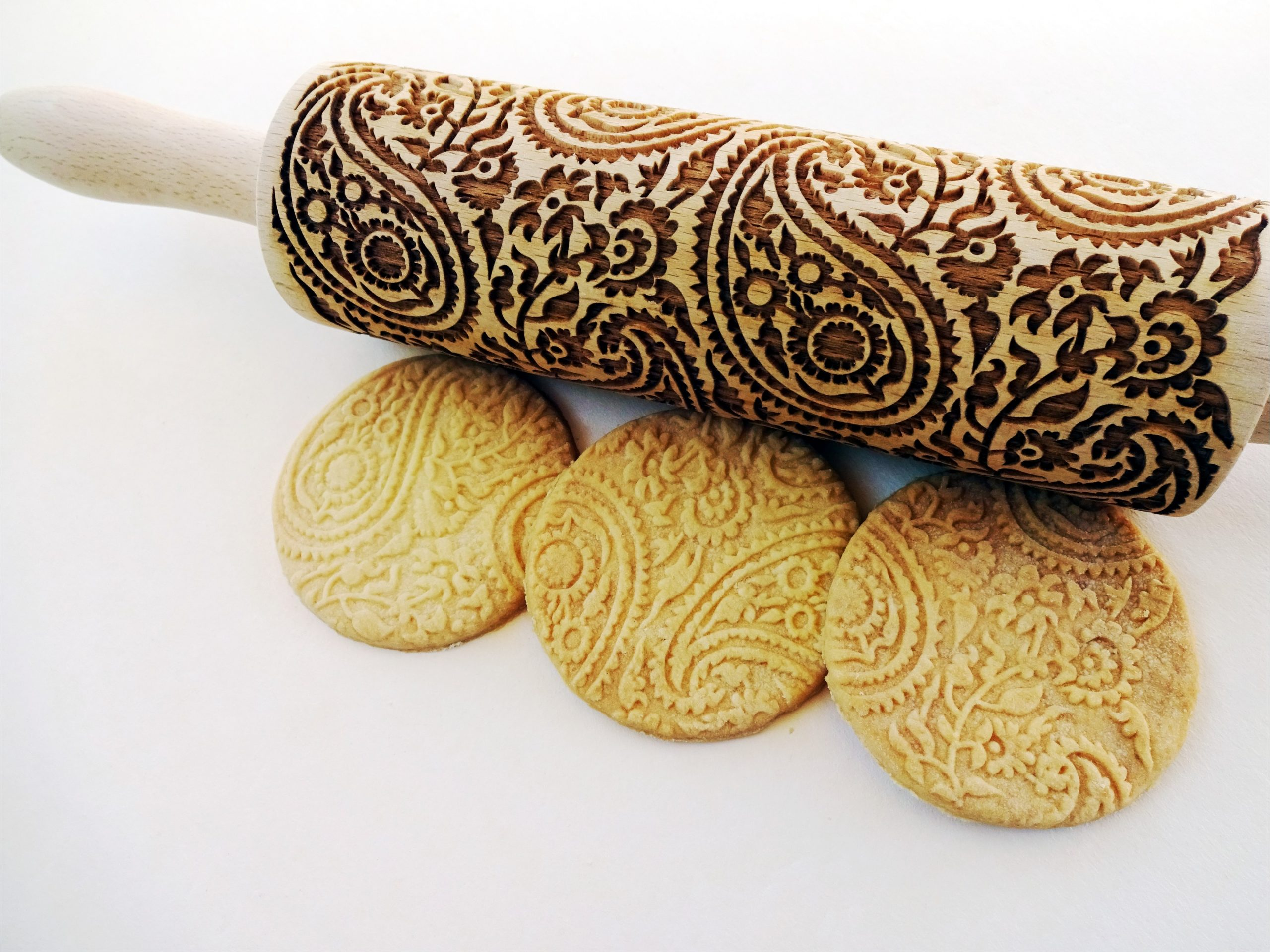 PAISLEY embossing rolling pin