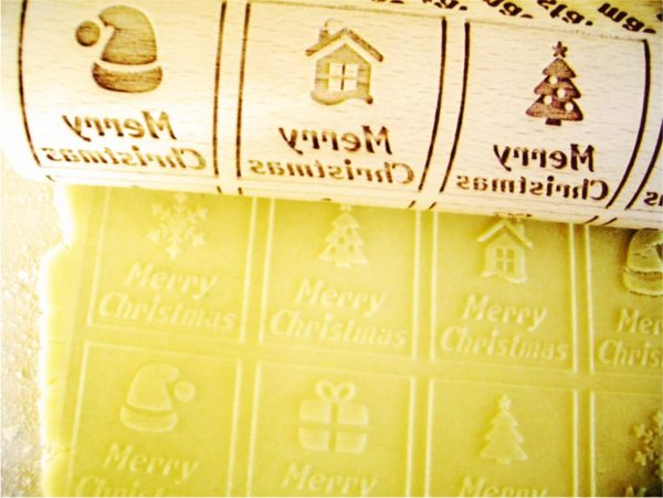 CHRISTMAS WINDOWS embossing rolling pin