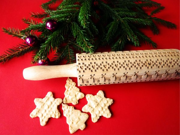SCANDINAVIAN CHRISTMAS embossing rolling pin