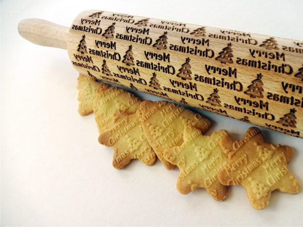 CHRISTMAS TREE embossing rolling pin