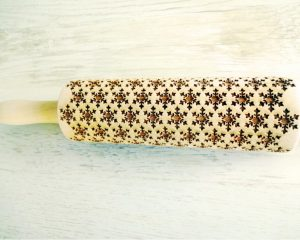 LET IT SNOW embossing rolling pin