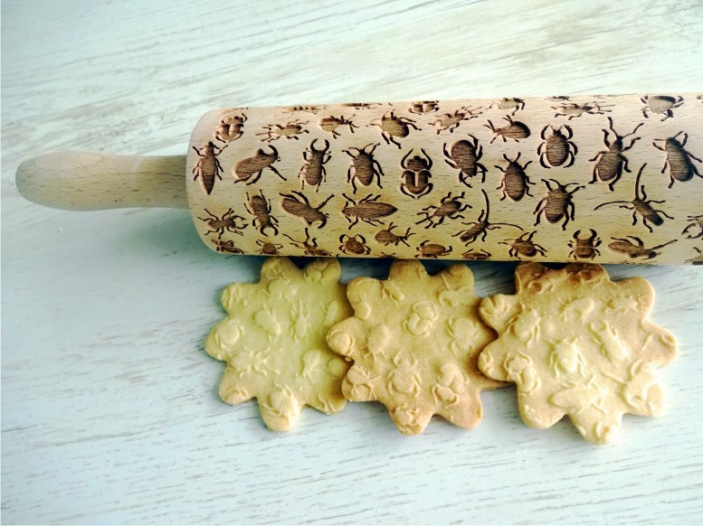 INSECTS Embossing Rolling Pin