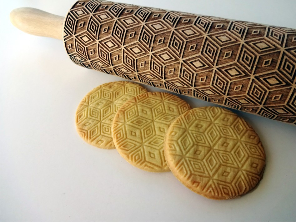 MAGIC 3D CUBE Embossing Rolling Pin