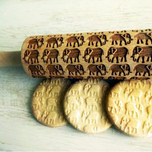 ELEPHANTS Embossing Rolling Pin