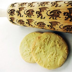 DRAGONS Embossing Rolling Pin