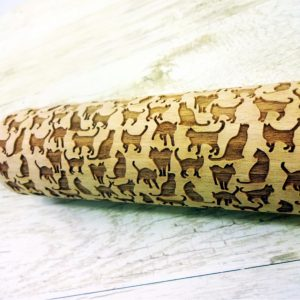 My CAT Embossing Rolling Pin