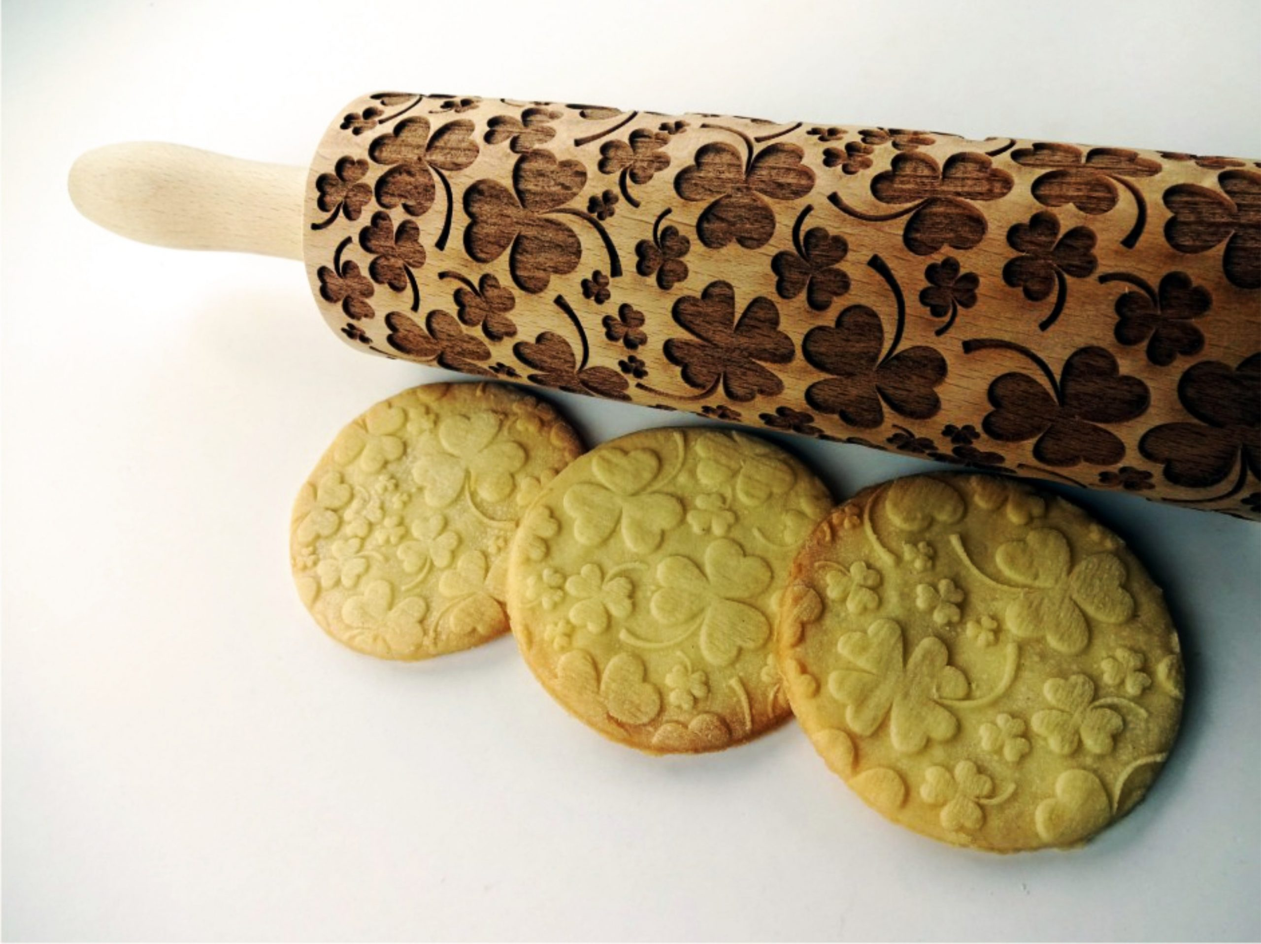 LUCKY CLOVER embossing rolling pin