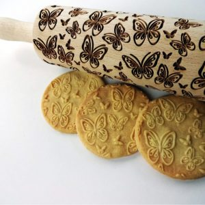 BUTTERFLIES embossing rolling pin