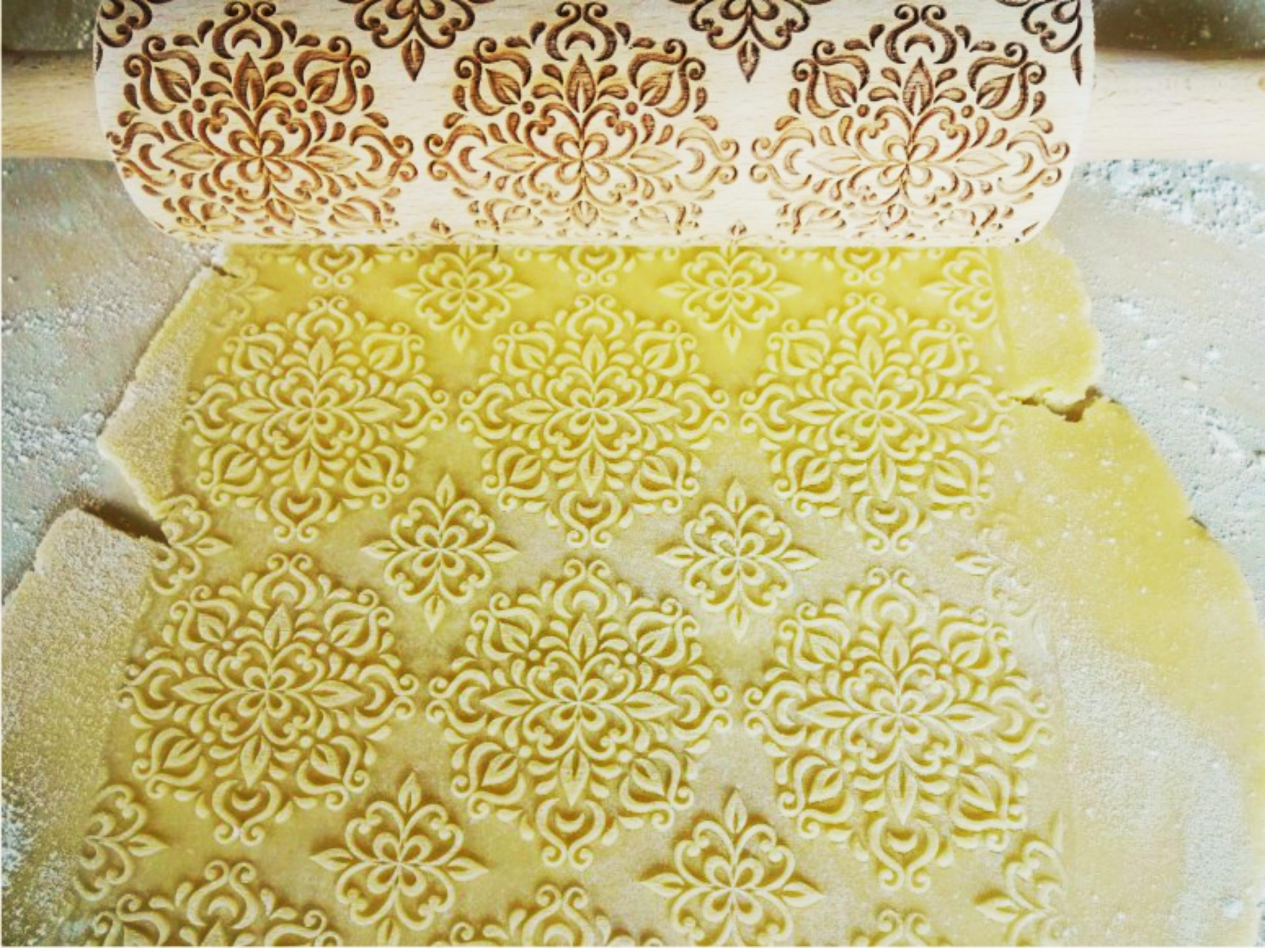 KALEIDOSCOPE Embossing Rolling Pin