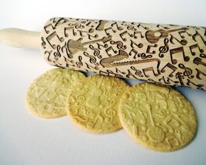 MUSIC INSTRUMENTS Embossing Rolling Pin