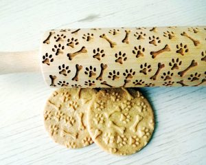 PAW and BONES embossing rolling pin