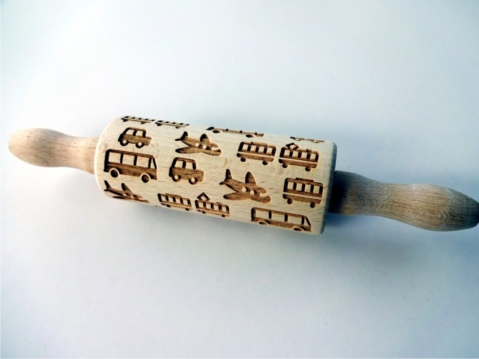 TRANSPORT kids rolling pin