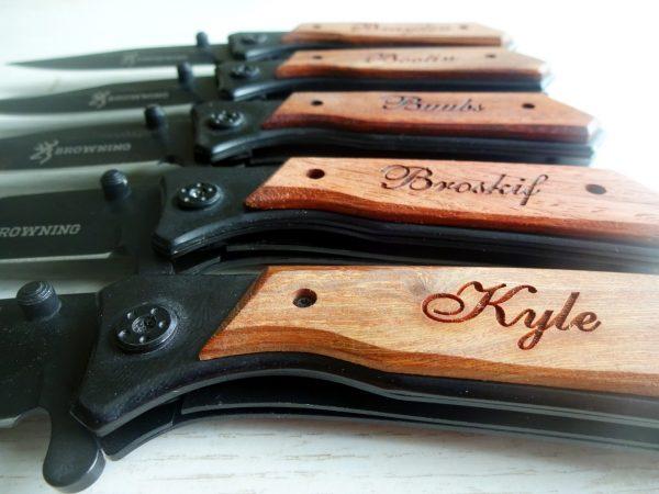 7 SET Personalized Pocket Knives