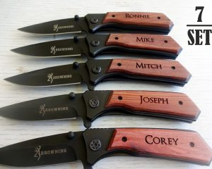 7 SET Personalized Pocket Knives