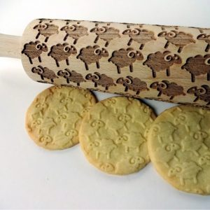 SHEEP Embossing Rolling Pin