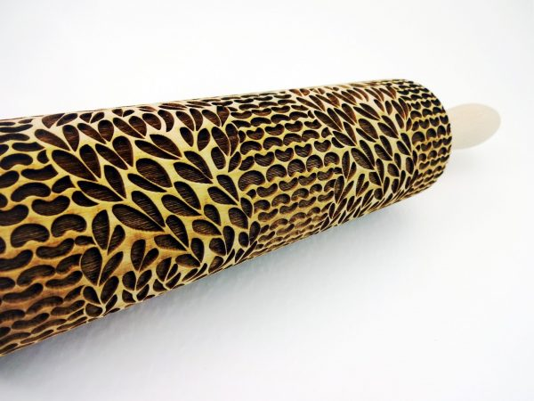 CABLE KNIT Embossing Rolling Pin