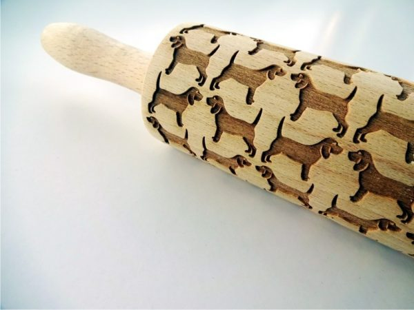 BEAGLES embossing rolling pin