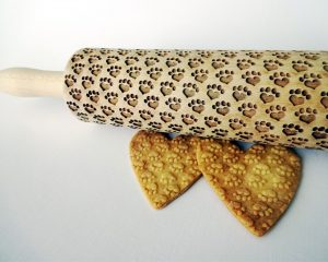 PAW hearts embossing rolling pin