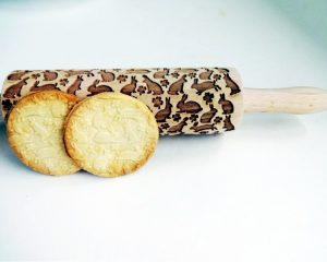 RABBIT Embossing Rolling Pin